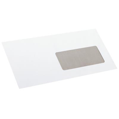 Enveloppe La Couronne format DL - 220 x 110 mm - avec fenêtre - 80 g/m² fermeture autocollante avec bande protectrice - blanc - paquet 50 unités