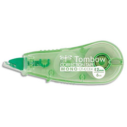 Mini roller de correction Micro tombow compact - 4,2 mm x 6 m - corps coloris transparent (photo)