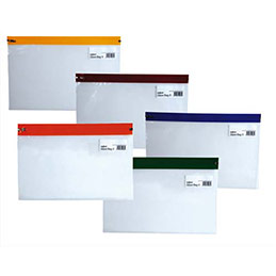 Pochettes Zippa Bag S Snopake - 140 microns - A5 - L25,5 x H19 cm - transparente avec Zip assortis - sachet de 5 (photo)
