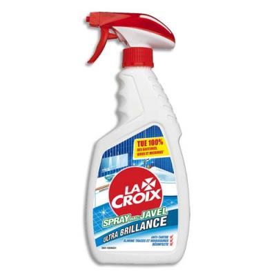 Spray avec Javel Lacroix pour salle de bain - anti-tartre - élimine trace et moisissure - désinfecte - 500 ml (photo)