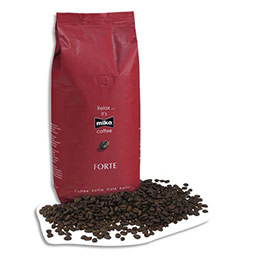 Café Miko Expresso en grains Forte - 70% Arabica 30% Robusta - paquet d'1 Kg (photo)