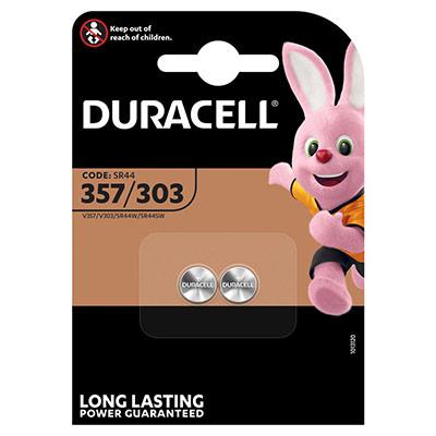 Piles Duracell 357/303 oxyde d'argent - blister de 2 (photo)