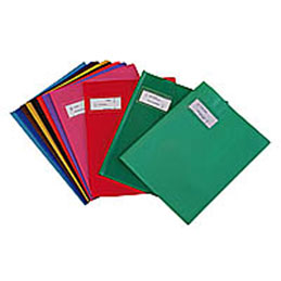 Protège cahier en PVC - format 17x22 cm - coloris jaune (photo)