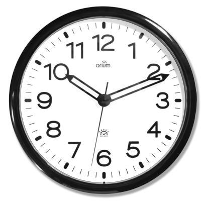 Horloge murale analogique Automatic DST - Ø 36 cm - contour noir (photo)