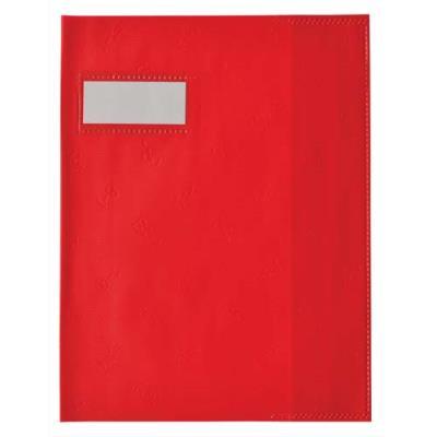 Protège cahier - 17x22 cm - coloris rouge (photo)