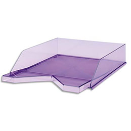 Corbeille courrier jalema silky touch violet - Corbeille courrier pas cher ...