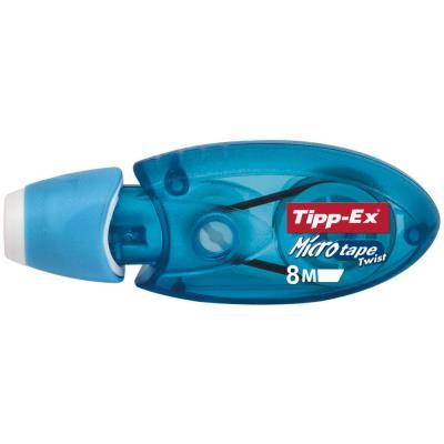 Roller de correction Micro Tape Twist - 5mm x 8m bleu - translucide