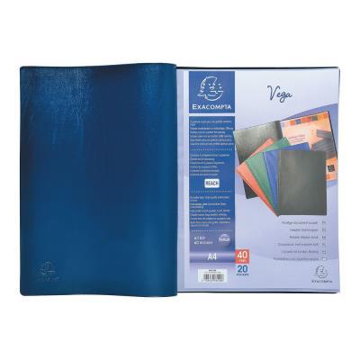 Protège-documents Exacompta Vega - 50 pochettes - bleu