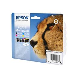 epson multipack t0715 noir jaune cyan magenta. Black Bedroom Furniture Sets. Home Design Ideas
