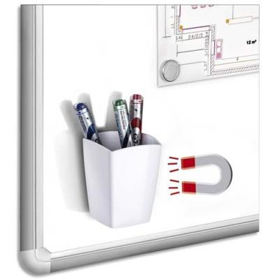 Pot à crayons et feutres Cep - magnétique - 2 compartiments - blanc