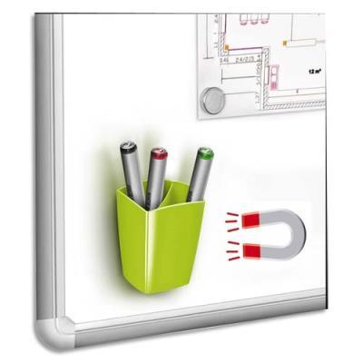 Pot à crayons et feutres Cep - magnétique - 2 compartiments - vert