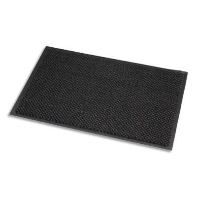 Tapis d'accueil Paperflow en microfibre et polypropylène - 60 x 90 cm - trafic intense - gris