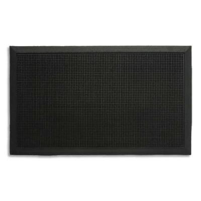 Tapis d'accueil extérieur Paperflow en caoutchouc - 80 x 100 cm - trafic important - noir