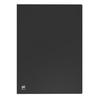 Protège-documents en polypropylène Elba - format A3 - 20 pochettes/40 vues - noir - couverture 3/10e pochettes 6/100e