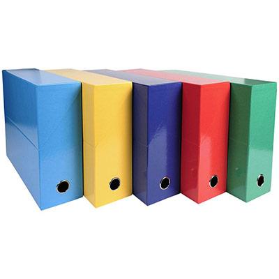 Boîte de classement Exacompta Iderama en carton - pour 800 feuilles A4 - 210 x 297 mm - largeur de dos 90 mm - couleurs assorties