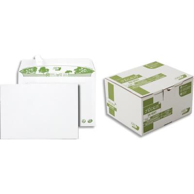 Enveloppes 100% recyclées 162 x 229 GPV Erapure - blanches - auto-adhésive - 80 g - boite de 500 (photo)