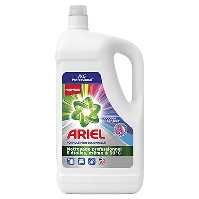 Lessive liquide Ariel couleur - formule professionnelle - 90 lavages - 4,95 L