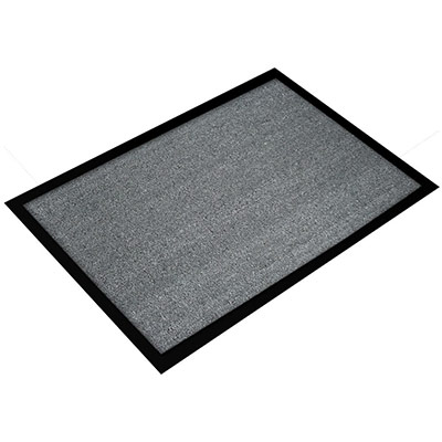 Tapis d'accueil Floortex Valuemat - 60 x 80 cm - trafic modéré - gris (photo)