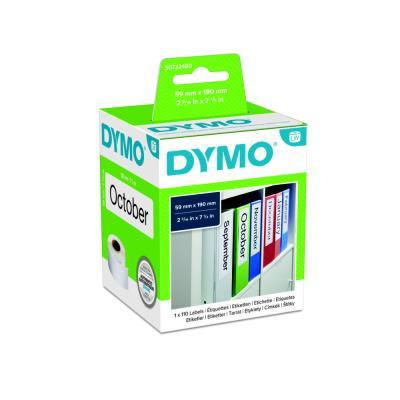 1 rouleau de 110 étiquettes pour Dymo Labelwriter - 190 x 59 mm : pour classeur dos large