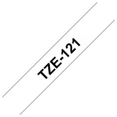Ruban Brother TZe121 - Ruban laminé noir/transparent - Rouleau (0,9 cm x 8 m)