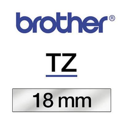 Ruban Brother TZ 141 - Ruban noir/transparent - 18 mm x 8 m