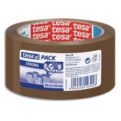 Ruban adhésif d'emballage Tesa - qualité supérieure - polypropylene havane - 60 microns - 50x66m (photo)
