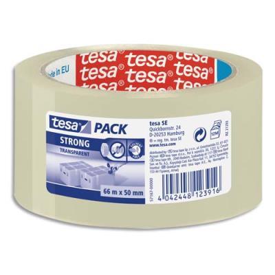 Ruban adhésif d'emballage Tesa - polypoprylene - transparent - qualité supérieure - 60 micr - 50x66m (photo)