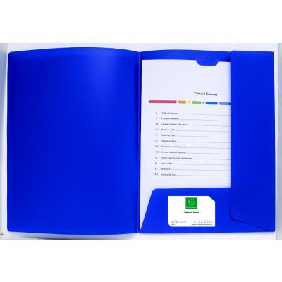 Chemise de présentation personnalisable Exacompta Krea Cover - 2 rabats - polypro 4/10e- Coloris bleu