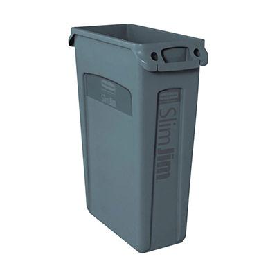 Collecteur déchets Slim Jim - gris - 87 litres (photo)