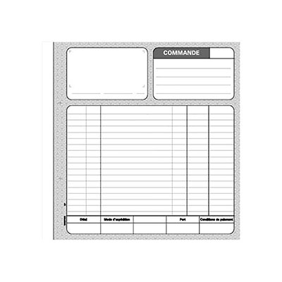Manifold Le Dauphin - autocopiant - commande 210x297 - 50 feuillets - tripli