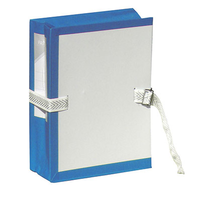 Pochette archives à soufflet - dos 10 cm - bleu