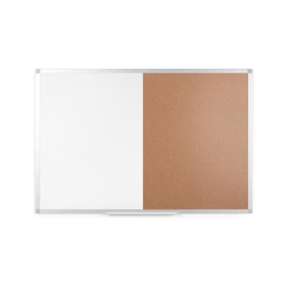 Tableau combiné Bi-Office Maya - moitié liège et magnétique laqué blanc - L120 x H90 cm