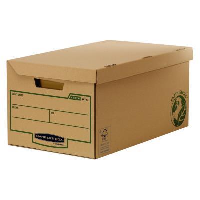 Conteneur à archives Fellowes Earth Series - ouverture sur le dessus - en carton recyclé