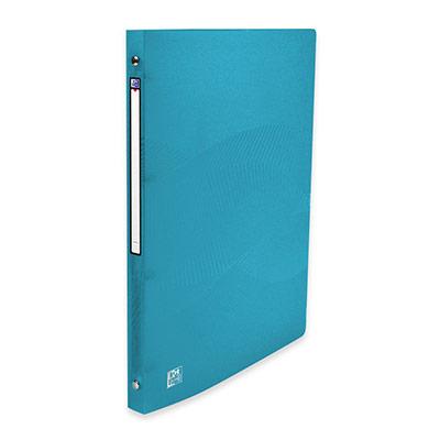 Classeur 4 anneaux ronds Oxford Osmose A4 en polypropylène - dos 20 mm capacité 100 feuilles - bleu turquoise translucide