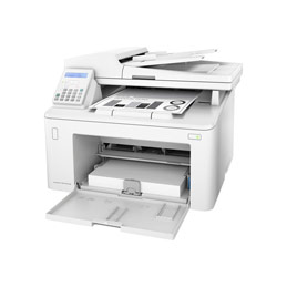 HP LaserJet Pro MFP M227fdn - Imprimante multifonctions - Noir et blanc - laser - Legal (216 x 356 mm) (original) - A4/Legal (support) - jusqu'à 28 ppm (copie) - jusqu'à 28 ppm (impression) - 260 feuilles - 33.6 Kbits/s - USB 2.0, LAN, hôte USB 2.0 (photo)
