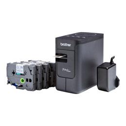 Brother P-Touch PT-P750WSP - Imprimante d'étiquettes - transfert thermique - Rouleau (2,4 cm) - 180 dpi - jusqu'à 30 mm/sec - USB 2.0, Wi-Fi(n), NFC - noir, gris foncé (photo)