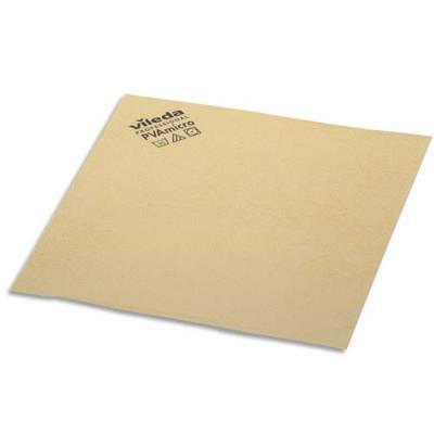 Paquet de 5 Lavettes Vileda en microfibre recouvert de PVA - L38 x H35 x P0,1 cm - jaune (photo)