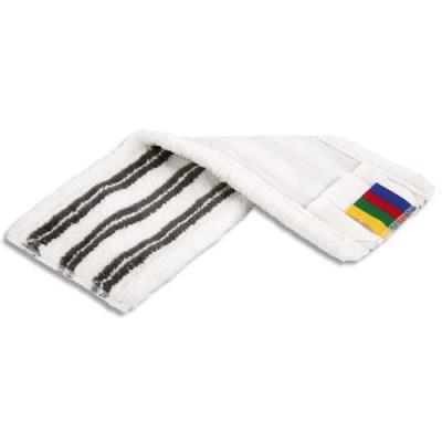 Frange Vileda MicroLite poche et languette en microfibre polyester - L42 x H2 x P10 cm - blanc/noir (photo)