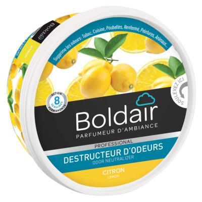 Gel destructeur d'odeurs Boldair - citron - Pot de 300g