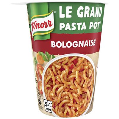 Pot de pâtes bolognaise Knorr - plat préparé - 88g