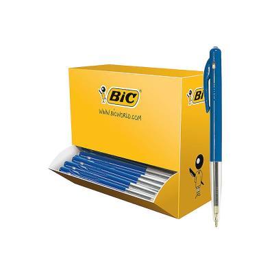 Pack 90 stylos bille Bic M10 bleu + 10 offerts - pointe moyenne (photo)