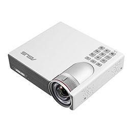 ASUS P3B - Projecteur DLP - RGB LED - 3D - 800 lumens - WXGA (1280 x 800) - 16:10 - objectif fixe à ultra courte focale - Wi-Fi (photo)