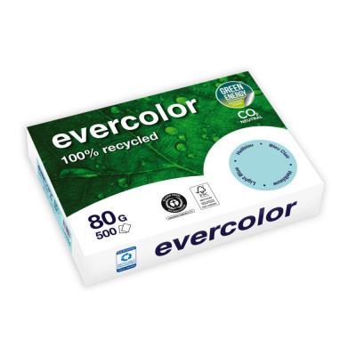 Papier couleur recyclé Evercolor - bleu clair - 80 g - A4 - ramette de 500 feuilles