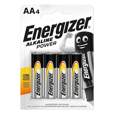Pile alcaline AA / LR6 Energizer Power - lot de 4