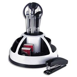 Pot rotatif Pavo - garni de 9 éléments - 11 compartiments - blanc / noir