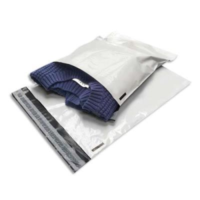 Pochettes indéchirables Bong - en polyéthylène - 60 microns - 31 x 42 cm - blanches - boîte de 100 (photo)