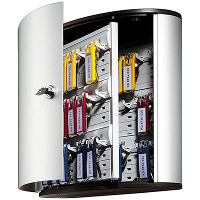 Armoire à clés Durable Key Box 36 - fournie avec 6 porte-clés - capacité 36 clés