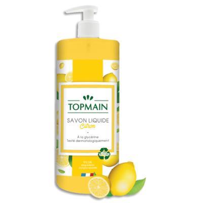 Savon liquide Topmain - spécial cuisine aux huiles essentielles - parfum citron - 500 ml