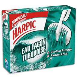 Etui de 2 blocs WC Harpic eau lagon turquoise - colore - nettoie - désodorise (photo)