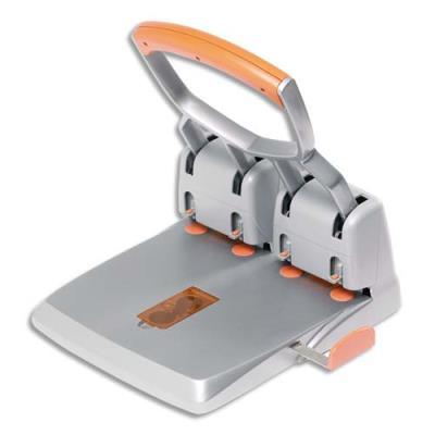Perforateur 4 trous Rapid Duax HDC 150 - capacité 150 feuilles - coloris orange/gris